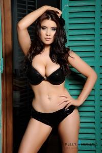 Kelly Andrews in black bra and panties previews-01