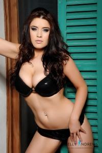Kelly Andrews in black bra and panties previews-02