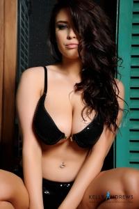 Kelly Andrews in black bra and panties previews-04